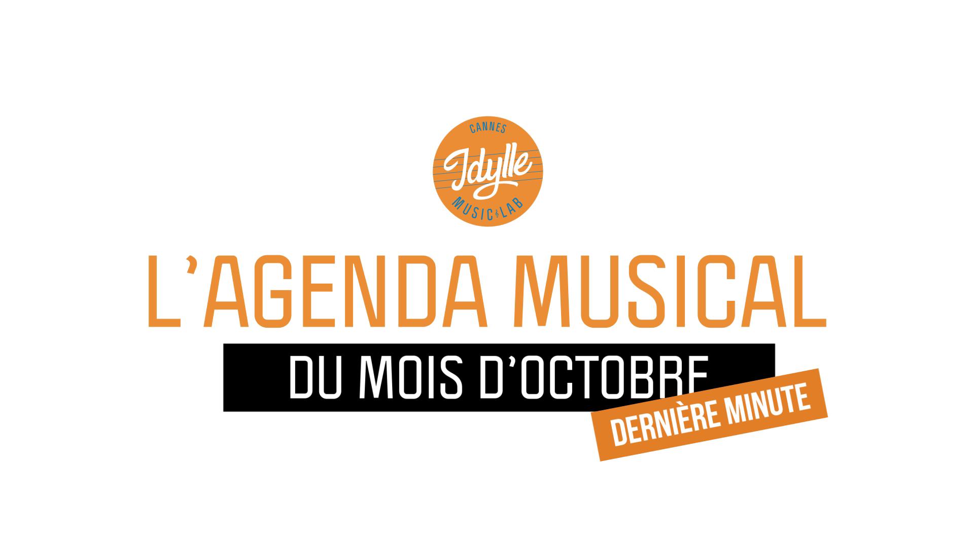 L'agenda musical Idylle Music Lab™ – octobre 2019 / 2